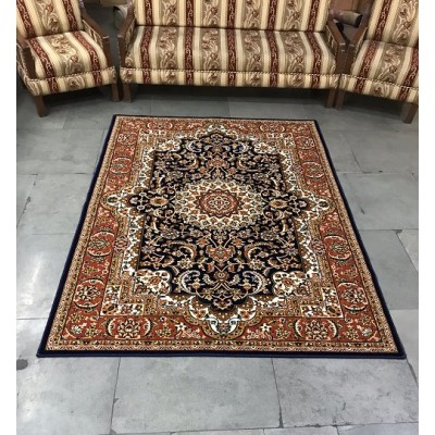 Shalimar Natural Brown Floral Carpet  (9 ft x 6 ft)
